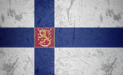 Finland grunge flag 2 by KisaragiIvanov