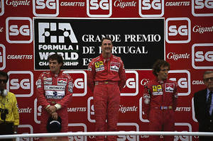1990 Portuguese Grand Prix Podium by F1-history