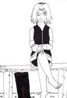 Sakura's feet by Dafootclan
