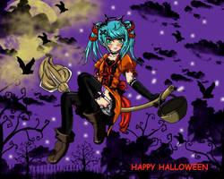 halloween witch anime by SeiMichiyo