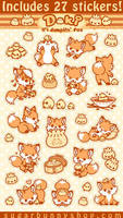 Doki Fox Sticker Set by celesse