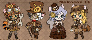 Nekocon 14 Mascots by celesse