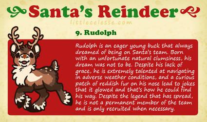 Santa's Reindeer - Rudolph by celesse
