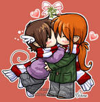 Chibi kisses by celesse