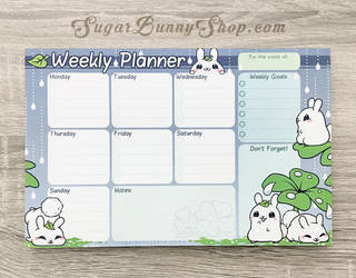 Puddle Bunnies Weekly Planner by celesse