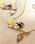 Witchy Broom Rider Necklaces by celesse