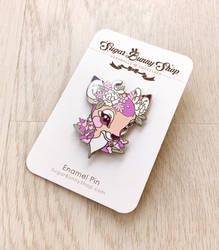 Lavendeer Flower Crown Enamel Pin by celesse