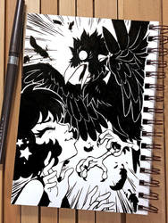 Inktober 2018 Day 5 - Chicken by celesse