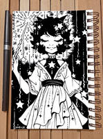 Inktober 2018 Day 8 - Star by celesse