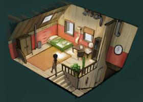 Keri's Bedroom by fluxmage