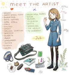 Meet the artist meme by Juli556