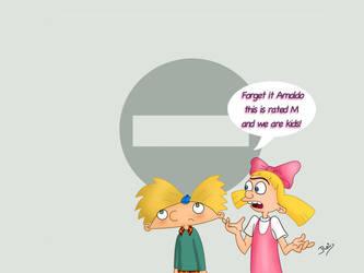 Hey Arnold Mature Warning by Rei-Hikaru