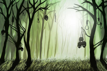 skull forest by zerodrk