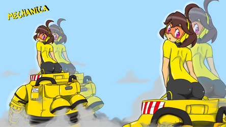 Mechanica resting after a fight by DaFunB0XMaN