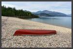Red Canoe by kootenayphotos