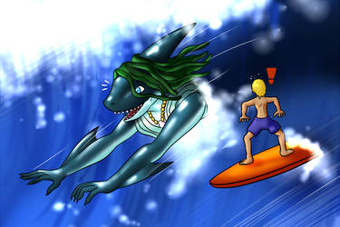 Surf's Up Peri! by DoodleDowd
