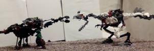 Obligatory Dinosaur Fight Scene by dinshino