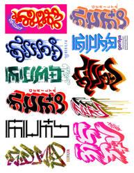 Gerilya Baybayin Sticker Tags by GerilyaGallery