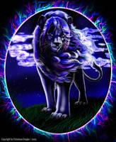 ' Spirit ' - Blue Lion by chrissi-dinos