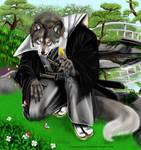 Samurai Wolf Anthro by chrissi-dinos