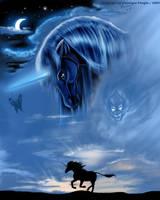 blue unicorn by chrissi-dinos