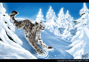 Snow leopard by chrissi-dinos