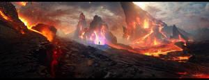 Diablo III - FanArt - Mount Arreat by Grivetart