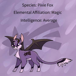 Pixie Fox Reference Sheet by EeveesAndDragons