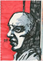 portrait artwork with markers by oluklu
