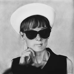 Audrey Hepburn and Hat #2 by MVVR