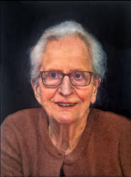 Oil painting of my grandmother by MVVR