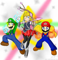 Paragon Serena X Mario Bros ~Commission~ by Xero-J
