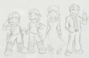 Super Mario Bros.: The Movie :Sketch: by Xero-J