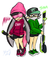 Coral's Playlist: Mar and Tina by Xero-J