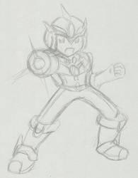 Mega Man EXE: Ultimate Armor :Sketch: by Xero-J
