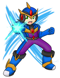 Mega Man EXE: Ultimate Armor ~Commission~ by Xero-J