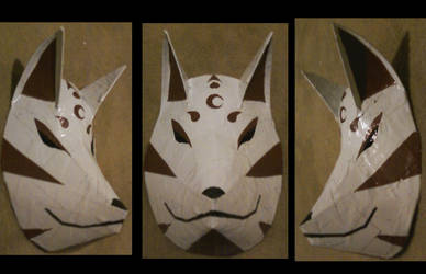 Kitsune mask by SteelOsprei