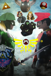 Link V Mario: Dawn of Smash (BVS Parody) by DeadSkullable
