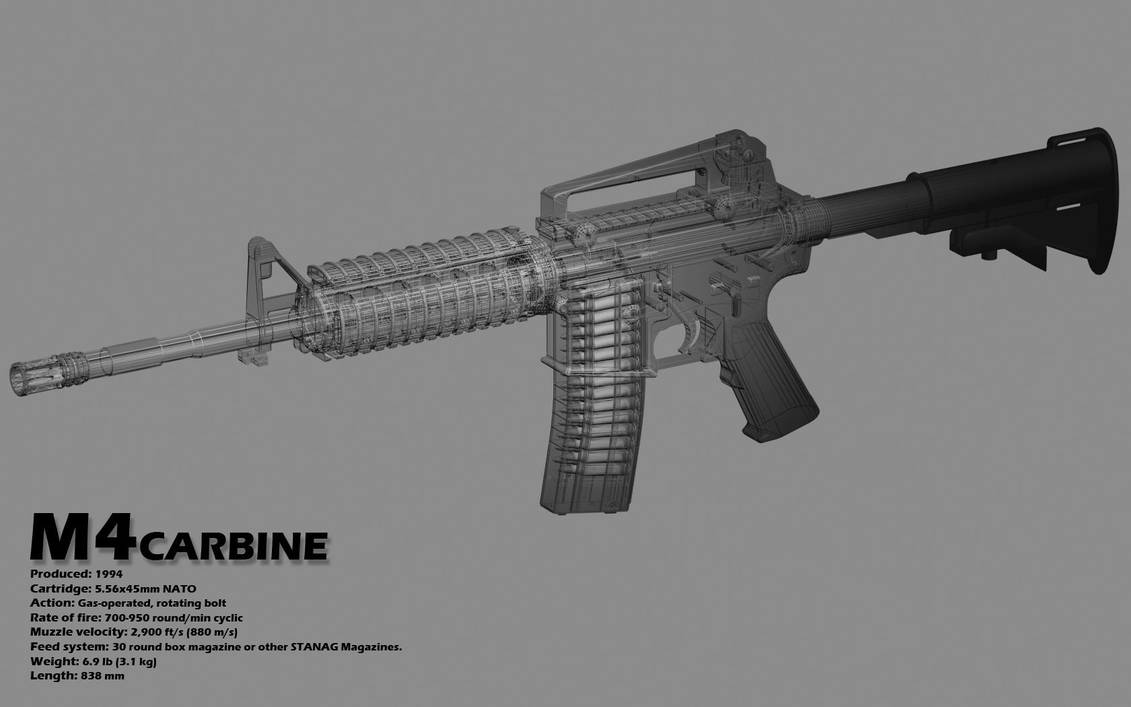 m4 carbine wallpaper by mickchap22 on deviantart