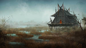 House in the Swamp by dracolychee