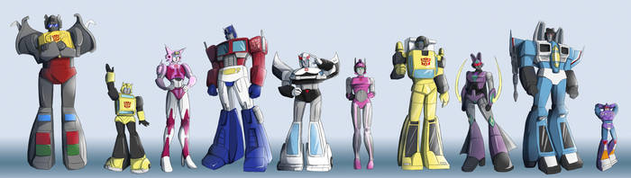 Transformers Height Chart by Ty-Chou