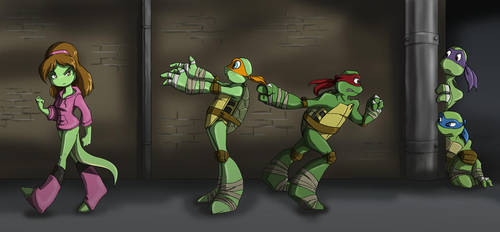 TMNT: Stop Following Me by Ty-Chou