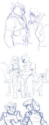 Swat Kats Sketch Dump 3 by Ty-Chou