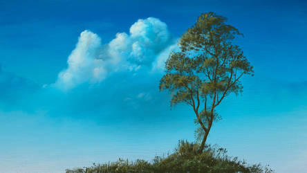 Cloud and Tree on canvas by TheTaron