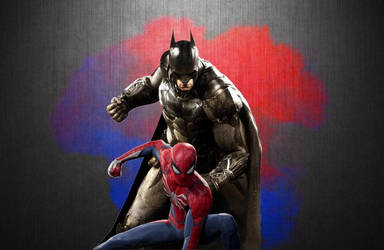 Batman and Spider-Man Wallpaper 4 by animeaful