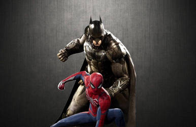 Batman and Spider-Man Wallpaper 3 by animeaful