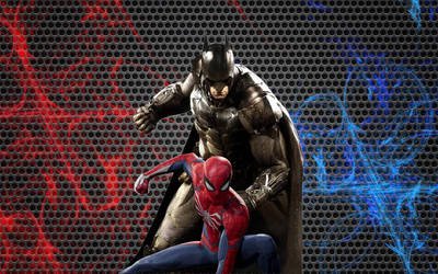 Batman and Spider-Man Wallpaper 2 (Remake)  by animeaful