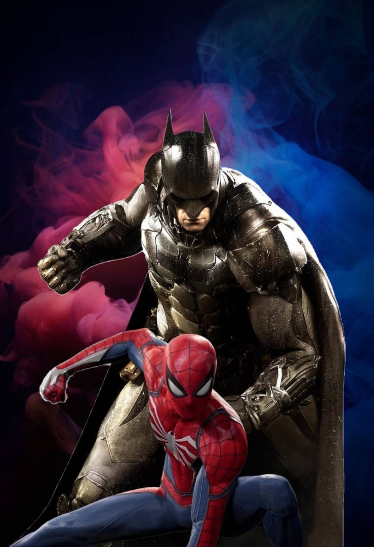 Batman And Spider Man Mobiletablet Wallpaper By Animeaful On Deviantart