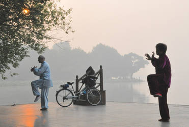 Tai Chi At Sunrise by digitalideation