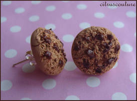cookie stud earrings by citruscouture